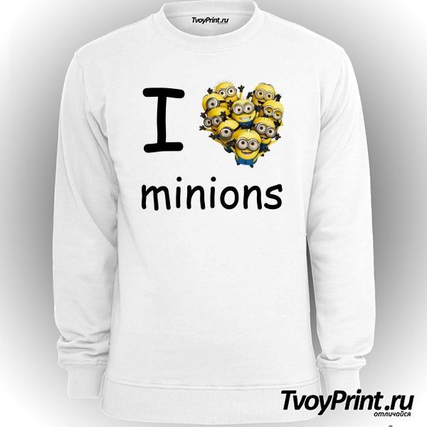 Свитшот I love minion (миньон)