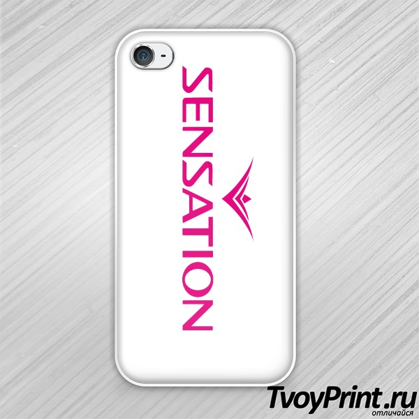 Чехол iPhone 4S Sensation розовый