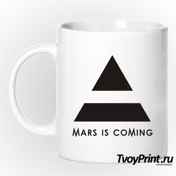Кружка 30 seconds to mars is coming