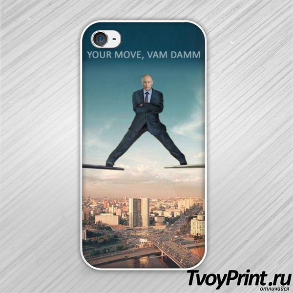 Чехол iPhone 4S с Путиным: твое слово, Ван Дамм