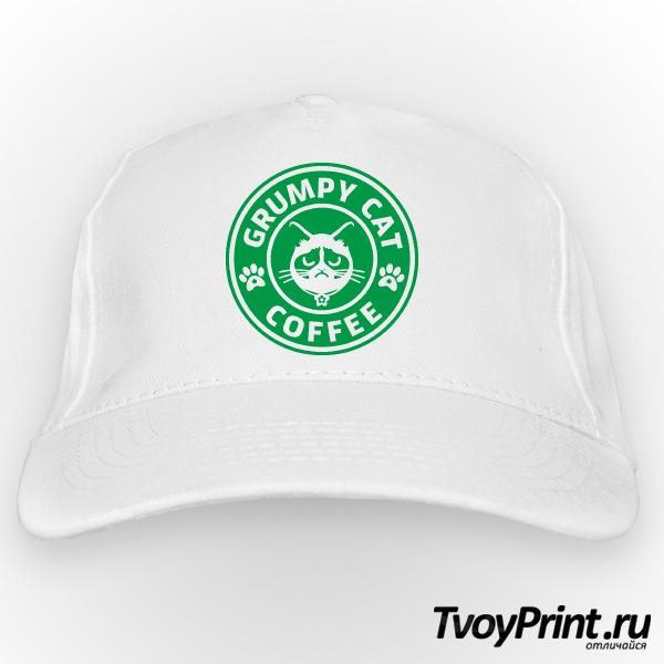 Бейсболка Grumpy Cat Coffee