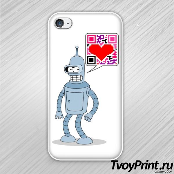 Чехол iPhone 4S Влюбленный бендер