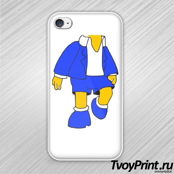 Чехол iPhone 4S Bart в костюме