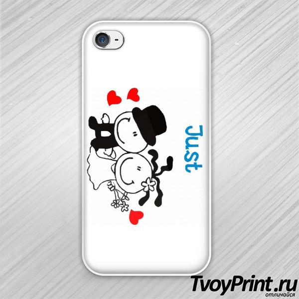 Чехол iPhone 4S Молодожены (парн)