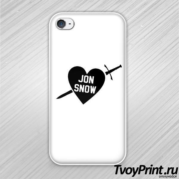 Чехол iPhone 4S I love jon snow
