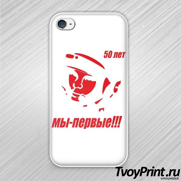 Чехол iPhone 4S Гагарин (6)