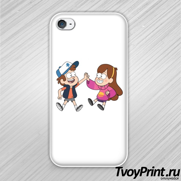 Чехол iPhone 4S диппер и мэйбл гравити фолз