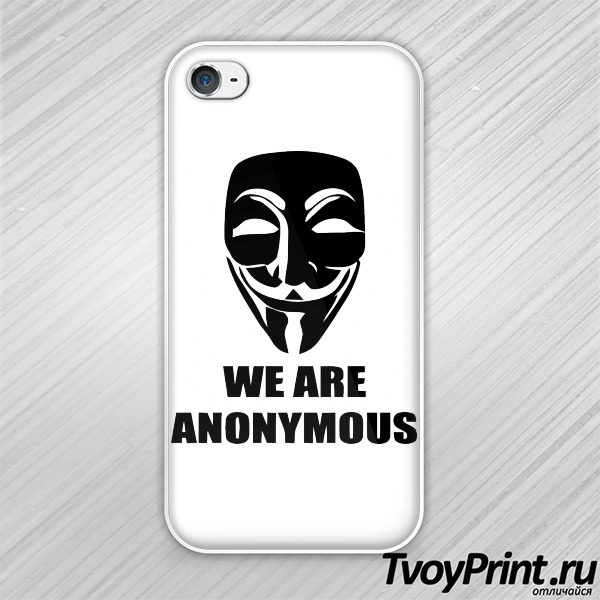Чехол iPhone 4S We are anonymous