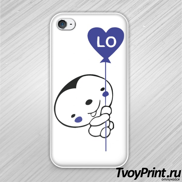 Чехол iPhone 4S Love левая часть