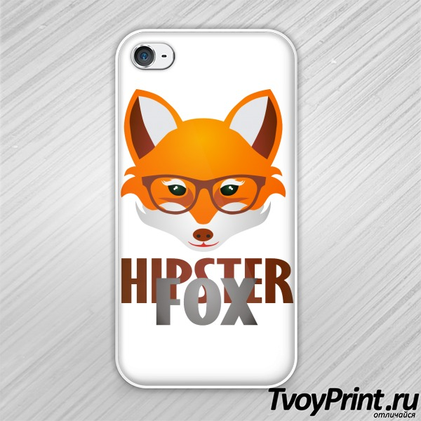 Чехол iPhone 4S Hipster Fox