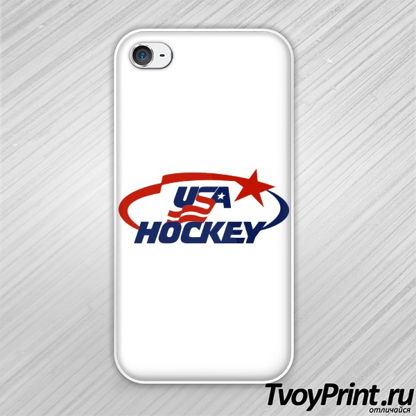 Чехол iPhone 4S USA Hockey