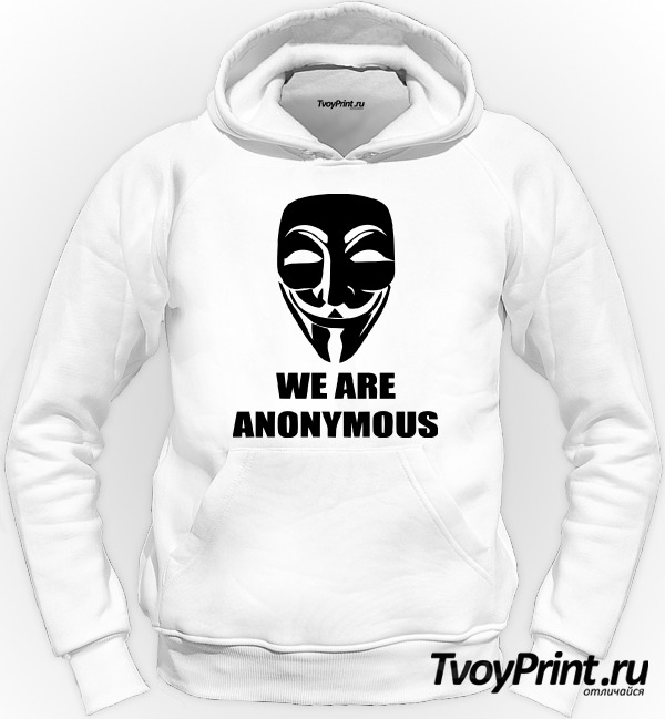 Толстовка We are anonymous