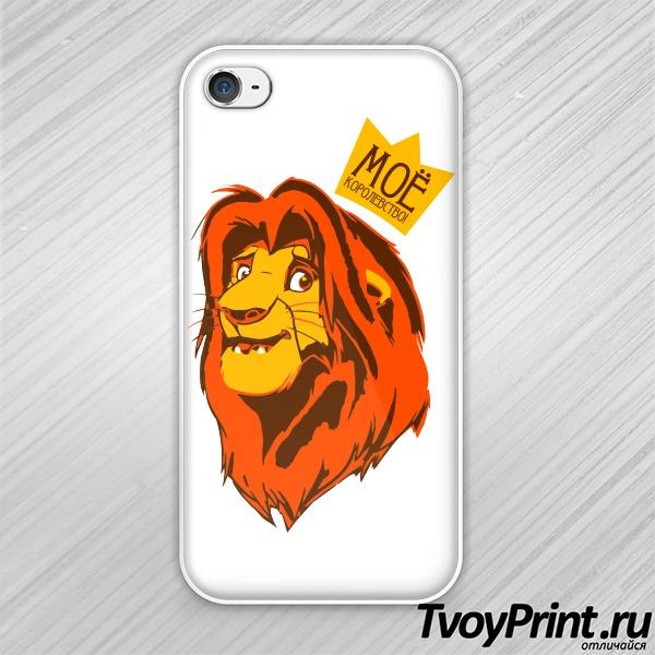 Чехол iPhone 4S Король лев