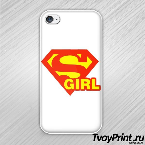 Чехол iPhone 4S SuperGirl