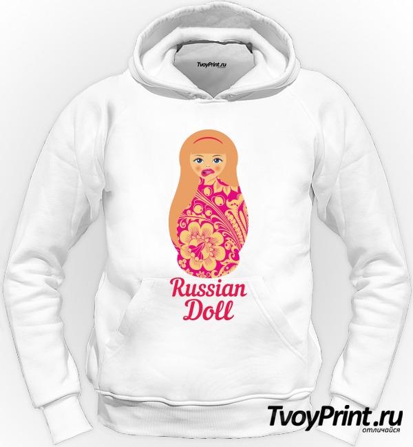 Толстовка Матрешка блондинка pink