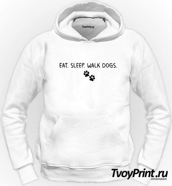 Толстовка EAT. SLEEP. WALK DOGS