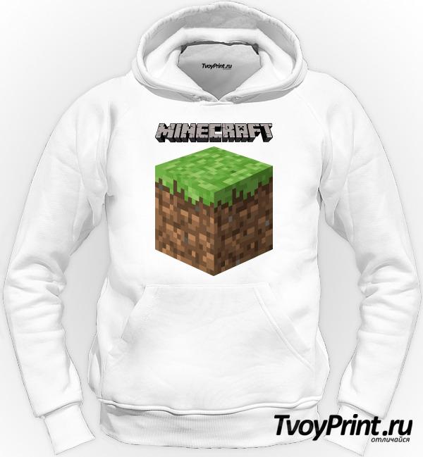 Толстовка Майнкрафт Логотип с Блоком Земли