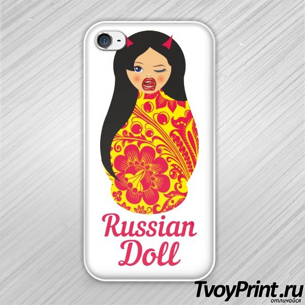 Чехол iPhone 4S Матрешка Чертенок