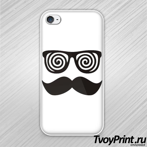 Чехол iPhone 4S Хипстерские гипноочки