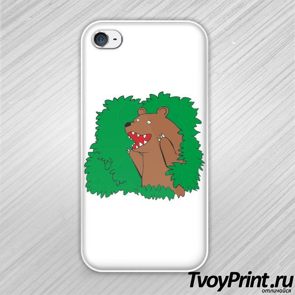 Чехол iPhone 4S Bear