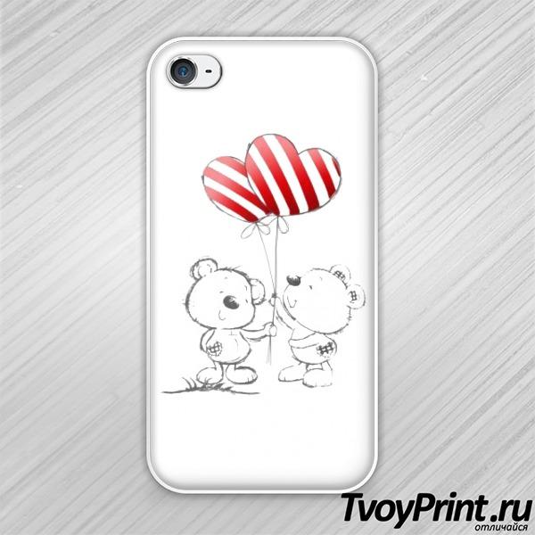 Чехол iPhone 4S Мишка