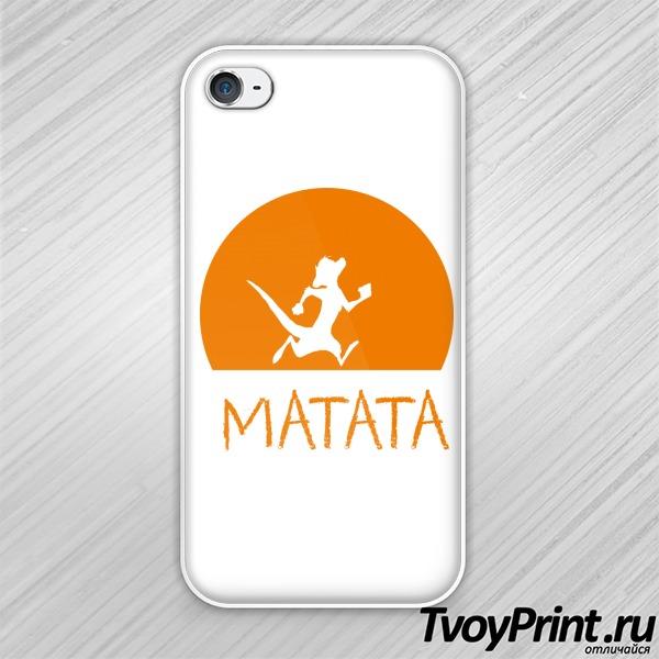 Чехол iPhone 4S HAKUNA MATATA (тимон)