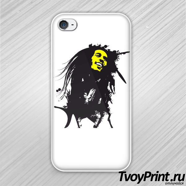 Чехол iPhone 4S Bob Marley