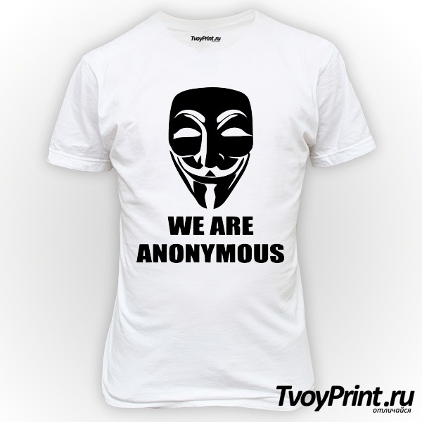 Футболка We are anonymous