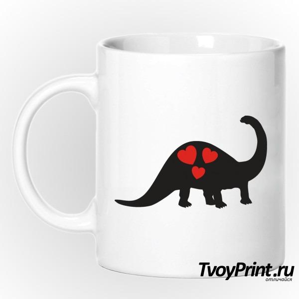 Кружка Влюбленный динозавр (левый)