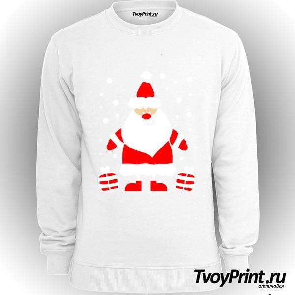 Свитшот Дед Мороз улыбается