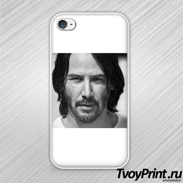 Чехол iPhone 4S Киану ч/б
