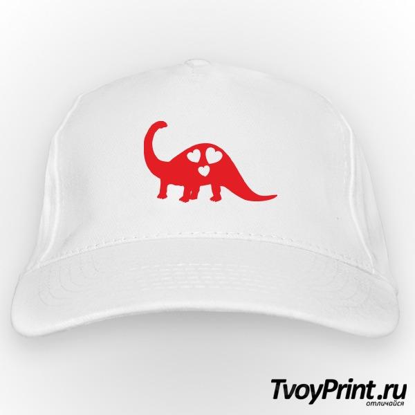 Бейсболка Влюбленный динозавр (правый)