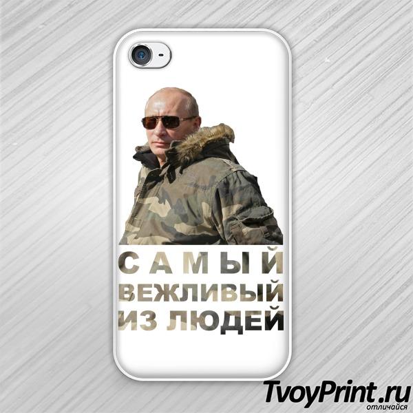 Чехол iPhone 4S Путин: самый вежливый из людей