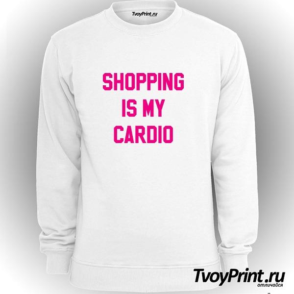 Свитшот shopping is my cardio