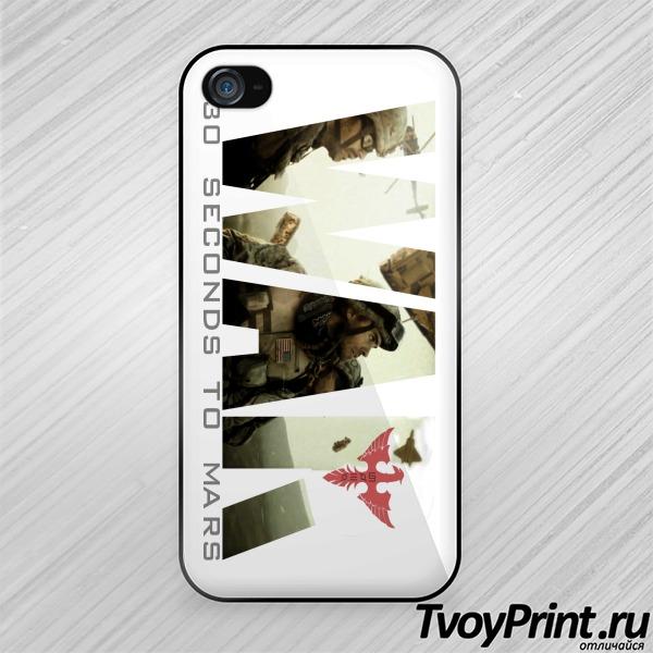 Чехол iPhone 4S 30 seconds to mars War