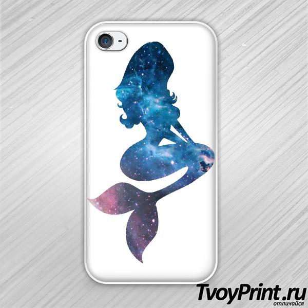 Чехол iPhone 4S Mermaid space