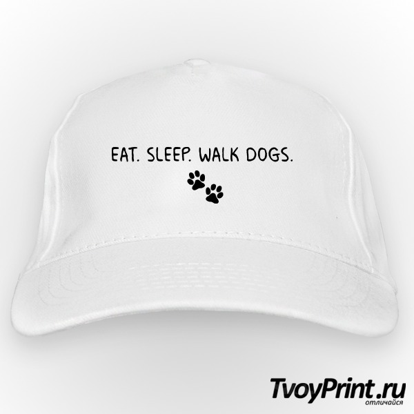 Бейсболка EAT. SLEEP. WALK DOGS