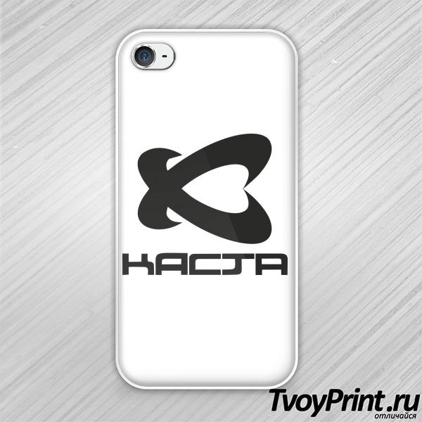 Чехол iPhone 4S Каста logo black