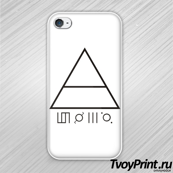 Чехол iPhone 4S 30 seconds to mars Глифы