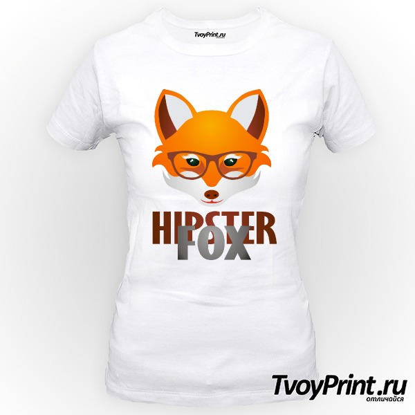 Футболка Hipster Fox