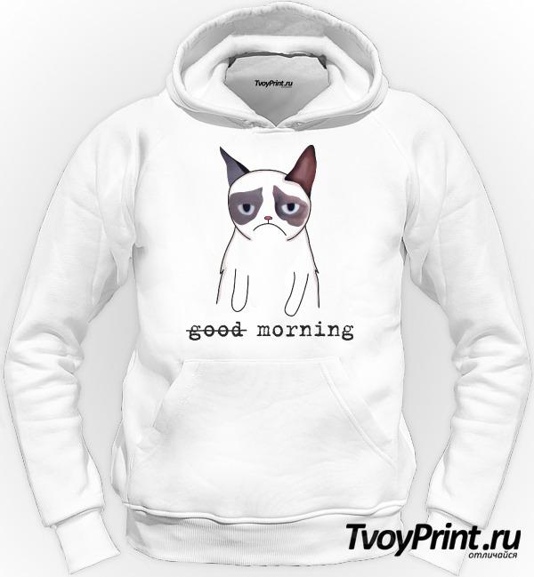 Толстовка Грустный кот Недоброе утро