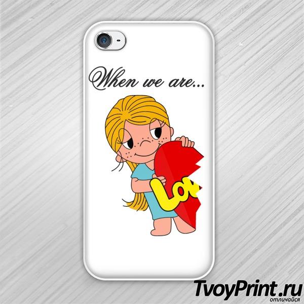 Чехол iPhone 4S Love is (girl)