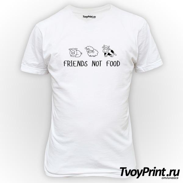 Футболка FRIENDS NOT FOOD