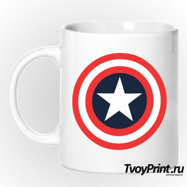 Кружка Щит Капитана Америка