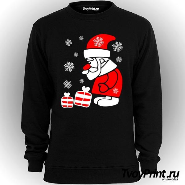 Свитшот Дед Мороз смотрит на подарочки