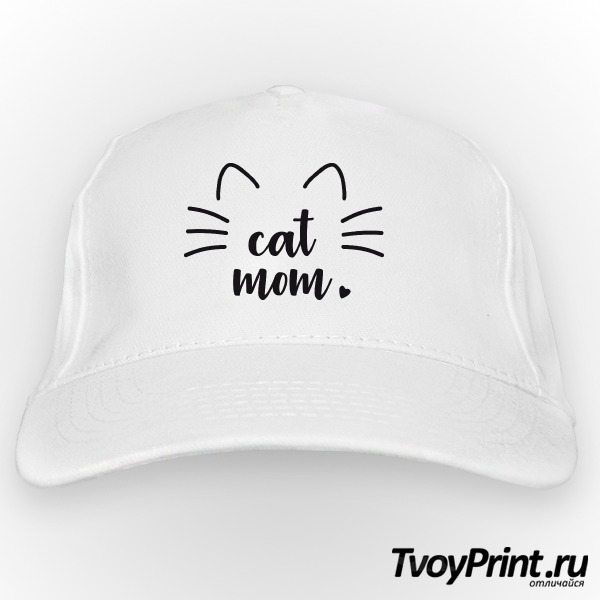 Бейсболка Cat mom