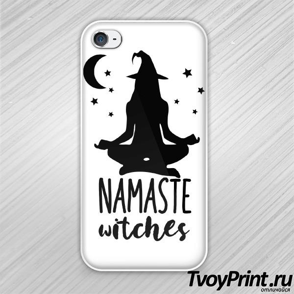 Чехол iPhone 4S Namaste witches