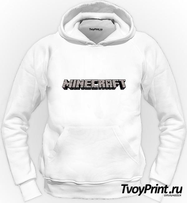 Толстовка Майнкрафт Логотип Серый
