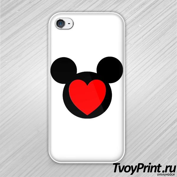Чехол iPhone 4S Микки