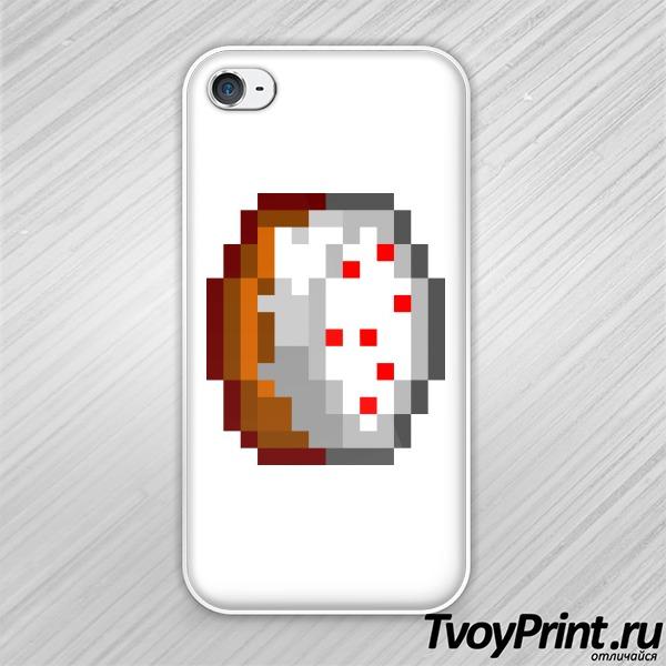 Чехол iPhone 4S Майнкрафт Тортик